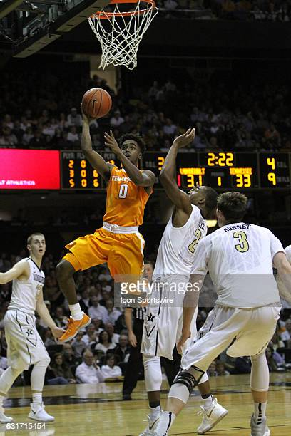 Tennessee Volunteers guard Jordan Bone drives for a layup en route to scoring a gamehigh 23 points in the Vols 8775 win over the Vanderbilt...
