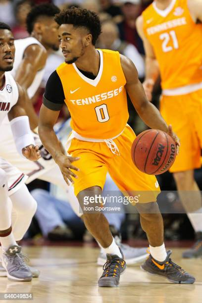 Tennessee Volunteers guard Jordan Bone handles the ball against the South Carolina Gamecocks on February 25 2017 at Colonial Life Arena in Columbia...