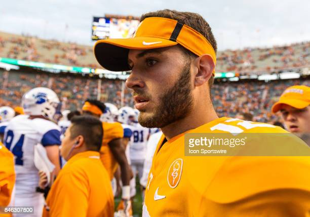 Tennessee Volunteers quarterback Quinten Dormady during a game between the Indiana State Sycamores and Tennessee Volunteers on September 9 at Neyland...
