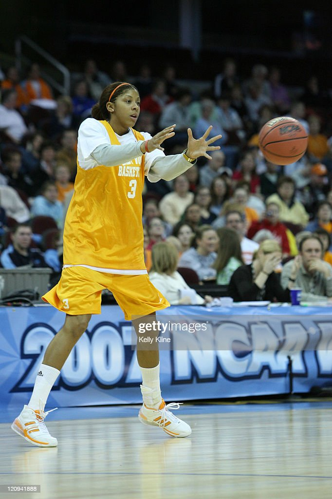 Tennessee's <a gi-track='captionPersonalityLinkClicked' href=/galleries/search?phrase=Candace+Parker&family=editorial&specificpeople=752955 ng-click='$event.stopPropagation()'>Candace Parker</a> pratices in preparation for the NCAA Women's Final Four at the Quicken Loans Arena, Cleveland, Ohio, March 31, 2007.