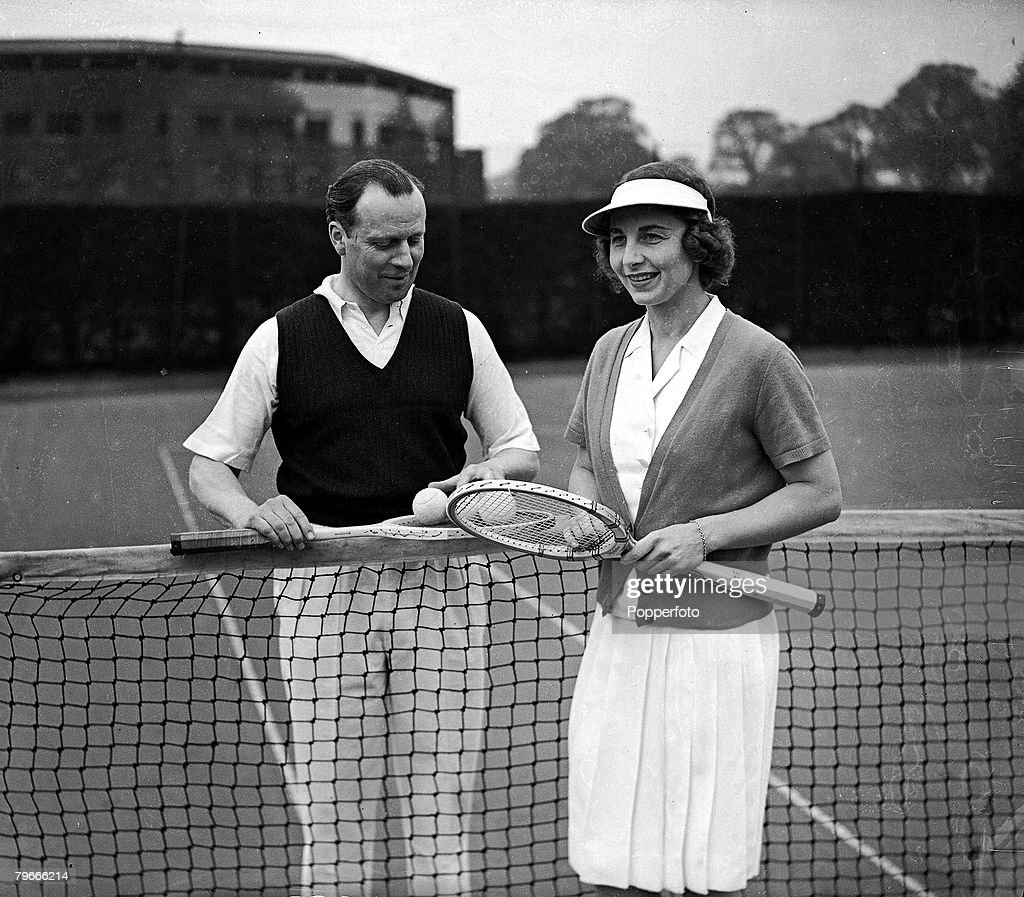 28th April 1938 Wimbledon London Legendary US Tennis player Mrs