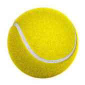 3D tennis ball isolated on white background