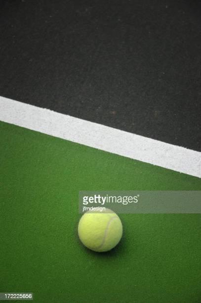 Balle de tennis se reposer de détente