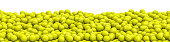 3D illustration of panoramic view of hundreds of tennis balls