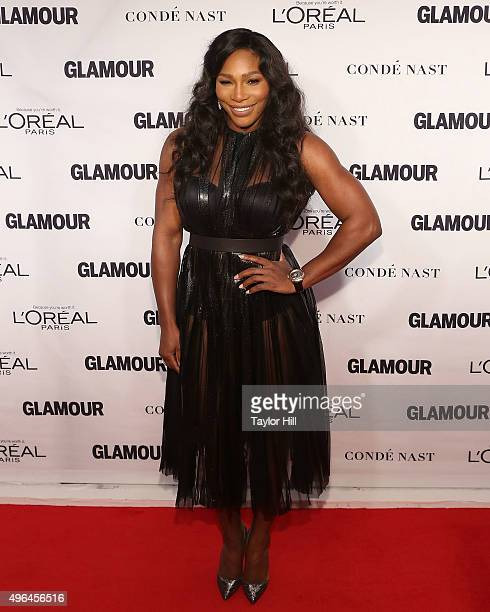 Tennis champion Serena Williams attends Glamour's 25th Anniversary Women Of The Year Awards at Carnegie Hall on November 9 2015 in New York City