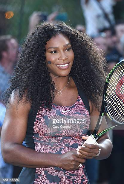 Tennis champion Serena Williams attends Nike's 'NYC Street Tennis' event on August 24 2015 in New York City