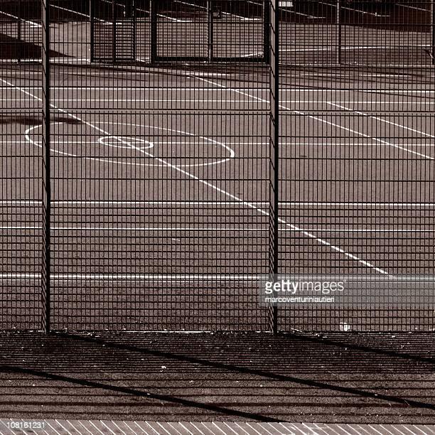 Campo da Tennis con motivo geometrico astratto, sport