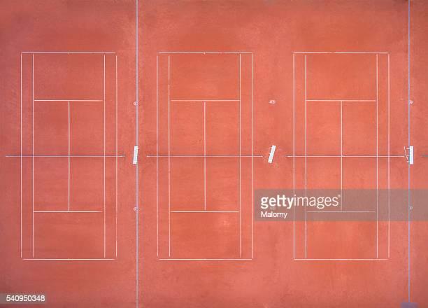 Tennis court, aerial view.