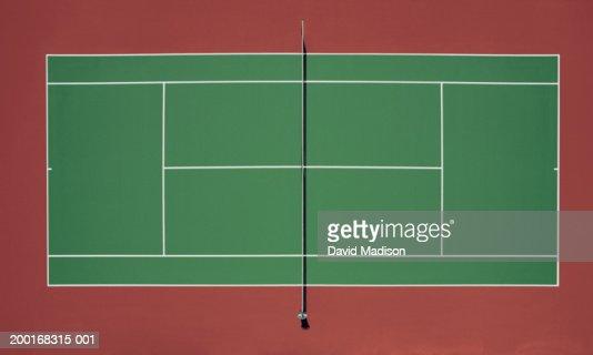 Tennis court stock photo getty images for Dimension d un terrain de tennis