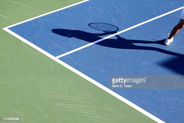 Tennis court with shadow