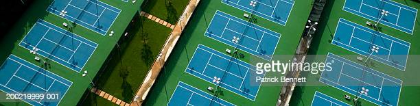 Tennis courts, aerial view