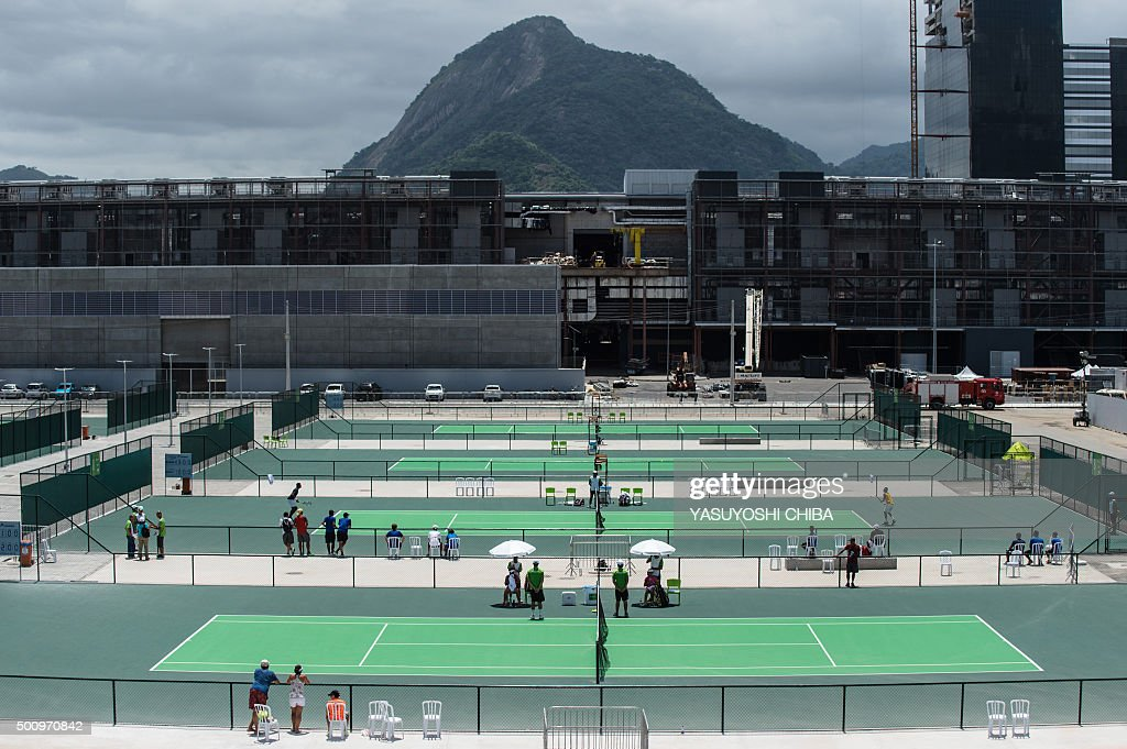 Tennis Courts Of The Olympic Centre At Park In Rio De Janeiro