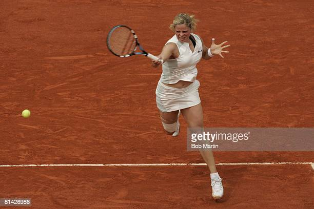 Tennis French Open BEL Kim Clijsters in action vs SVK Ludmila Cervanova at Roland Garros Paris FRA 5/25/2005