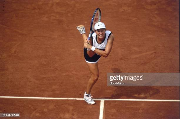 French Open France Monica Seles in action during tournament at Stade Roland Garros Paris France 5/24/1999 CREDIT Bob Martin
