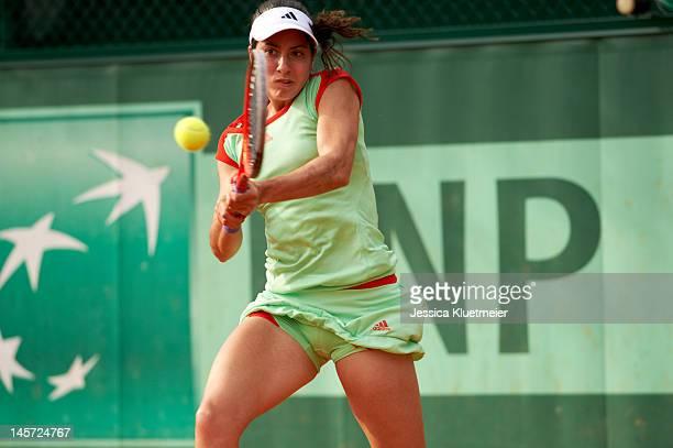 French Open USA Christina McHale in action vs USA Lauren Davis during Women's 2nd Round at Stade Roland Garros Paris France 5/31/2012 CREDIT Jessica...