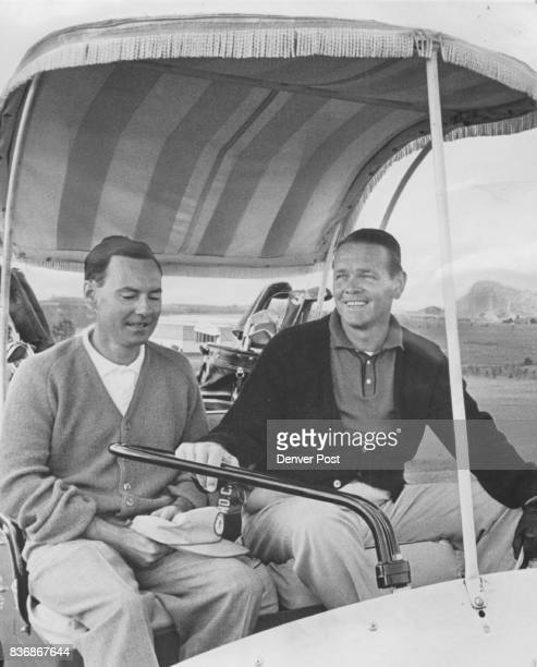 Tennis King Turns Golfer Jack Kramer one of amateur and professional tennis' alltime greats is shown with his partner Kevin Sullivan of Los Angeles...