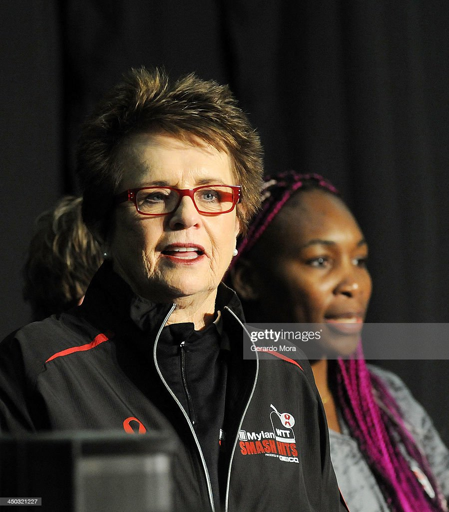 Tennis legend Billie Jean King attend the Mylan World TeamTennis VIP reception at ESPN Wide World of Sports Complex on November 17, 2013 in Lake Buena Vista, Florida.