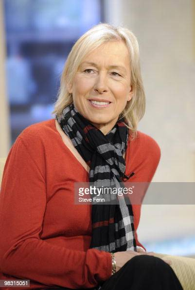AMERICA Tennis legend Martina Navratilova appears on behalf of AARP on GOOD MORNING AMERICA 4/7/10 airing on the ABC Television Network She also...