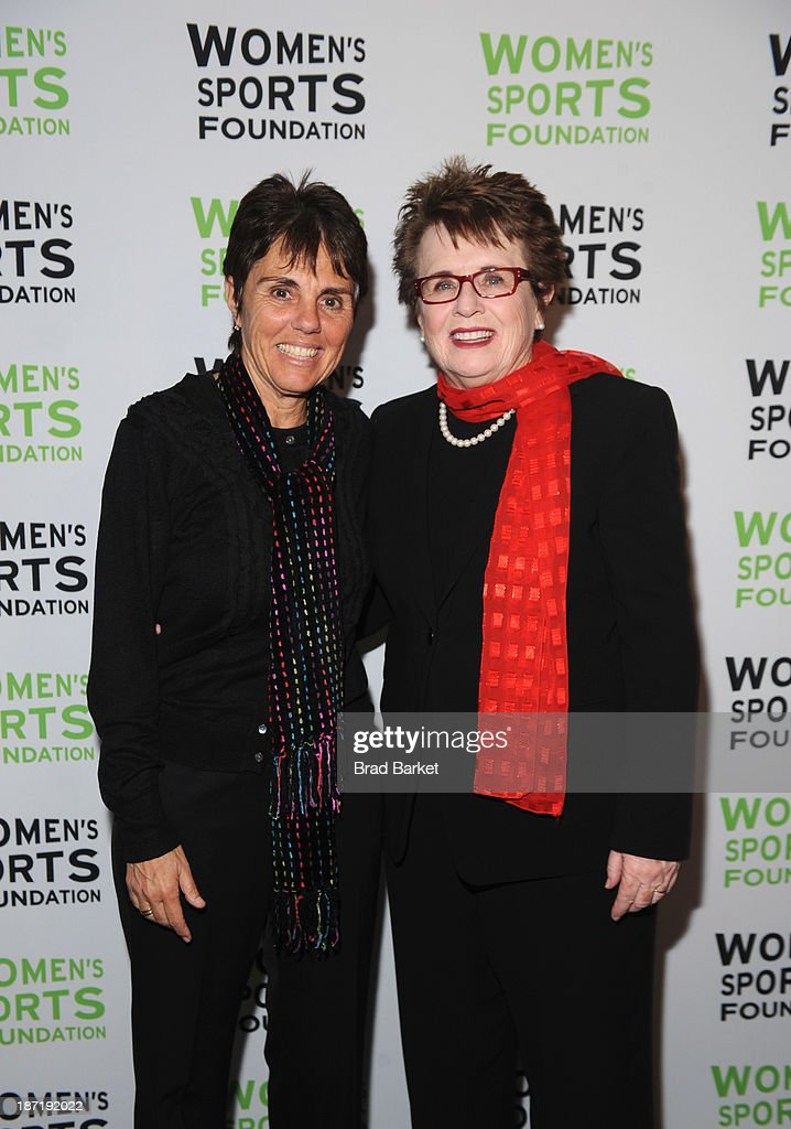 Tennis legends <a gi-track='captionPersonalityLinkClicked' href=/galleries/search?phrase=Billie+Jean+King&family=editorial&specificpeople=93147 ng-click='$event.stopPropagation()'>Billie Jean King</a> (R) and Ilana Kloss pose together at the Women's Sports Foundation's 70th Birthday Party For <a gi-track='captionPersonalityLinkClicked' href=/galleries/search?phrase=Billie+Jean+King&family=editorial&specificpeople=93147 ng-click='$event.stopPropagation()'>Billie Jean King</a> at the Museum of Art and Design on November 6, 2013 in New York City.