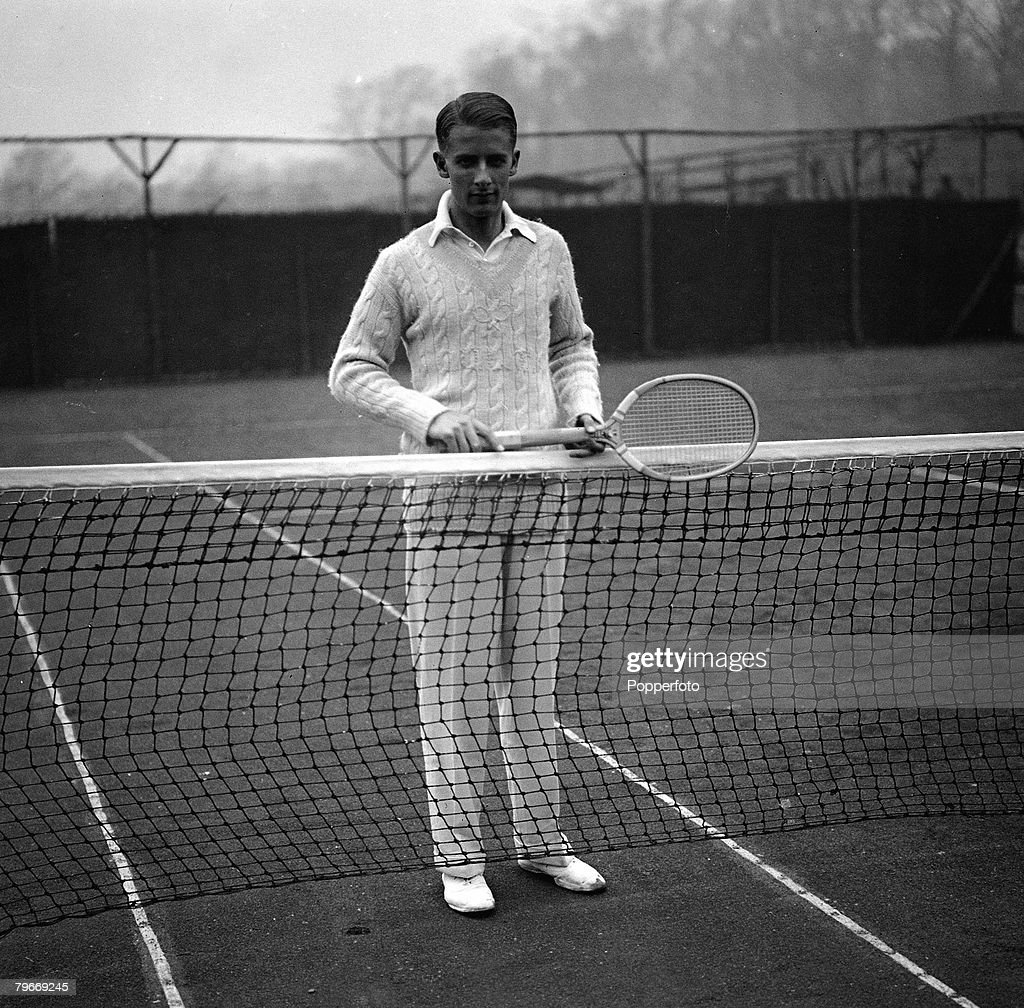 Tennis London 16th April 1930 British tennis player H W