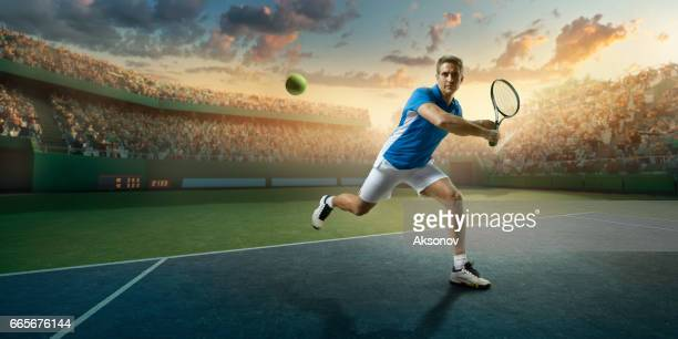 Tennis: Male sportsman in action