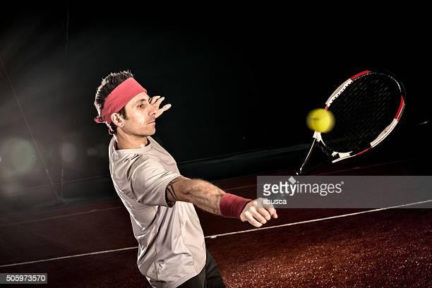 Giocatore di Tennis azione: Rovescio volée