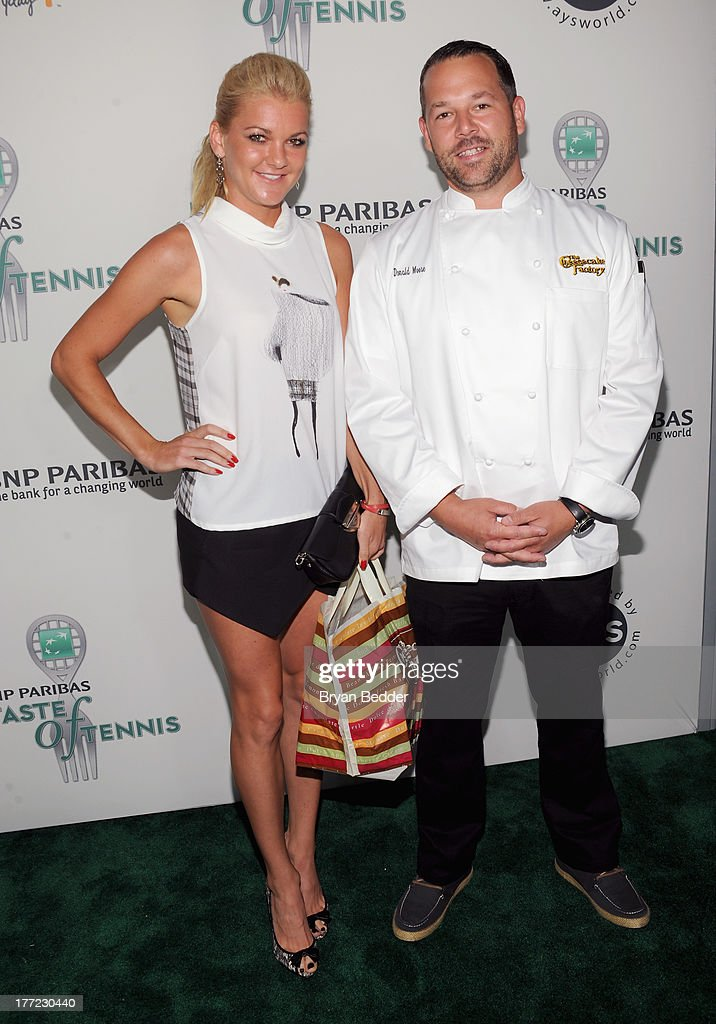Tennis player Agnieszka Radwanska and Chef Donald Moore attend the 14th Annual BNP Paribas Taste Of Tennis at W New York Hotel on August 22, 2013 in New York City.