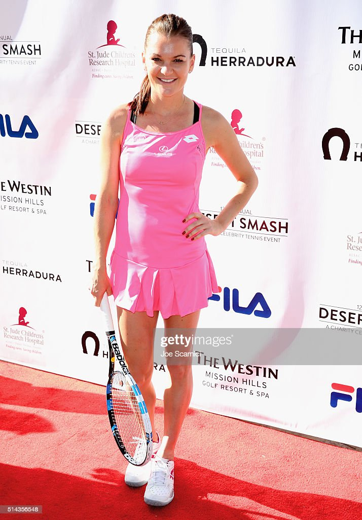 Tennis player Agnieszka Radwanska attends the 12th Annual Desert Smash Benefitting St. Jude Children's Research Hospital presented by Tequila Herradura on March 8, 2016 in Rancho Mirage, California.