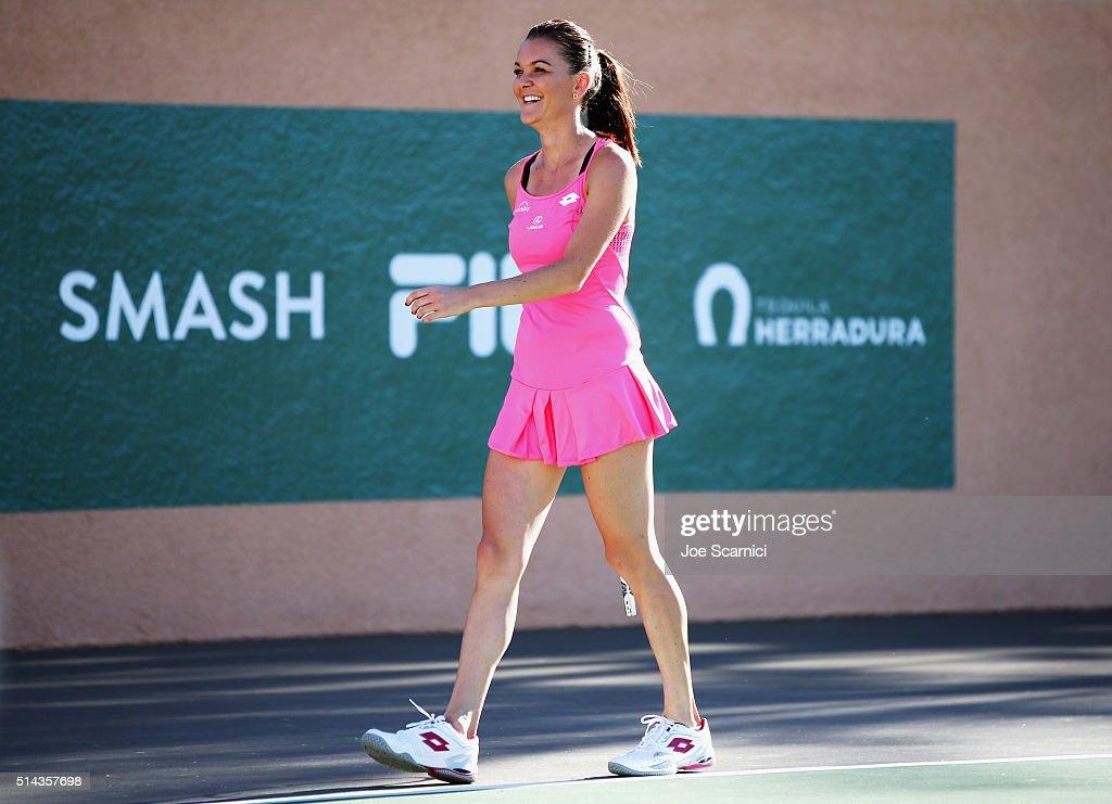 Tennis player Agnieszka Radwanska attends the 12th Annual Desert Smash Benefitting St Jude Children's Research Hospital presented by Tequila...