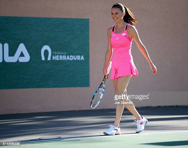 Tennis player Agnieszka Radwanska attends the 12th Annual Desert Smash Benefitting St Jude Children's Research Hospital presented by Tequila...