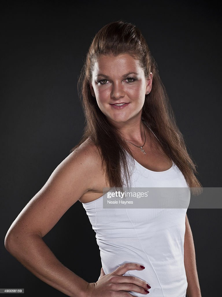 Tennis player Agnieszka Radwanska is photographed in Brighton, England.