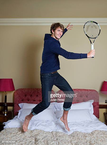 Tennis player Alexander Zverev is photographed at Stoke Park on November 24 2015 in Stoke Poges England