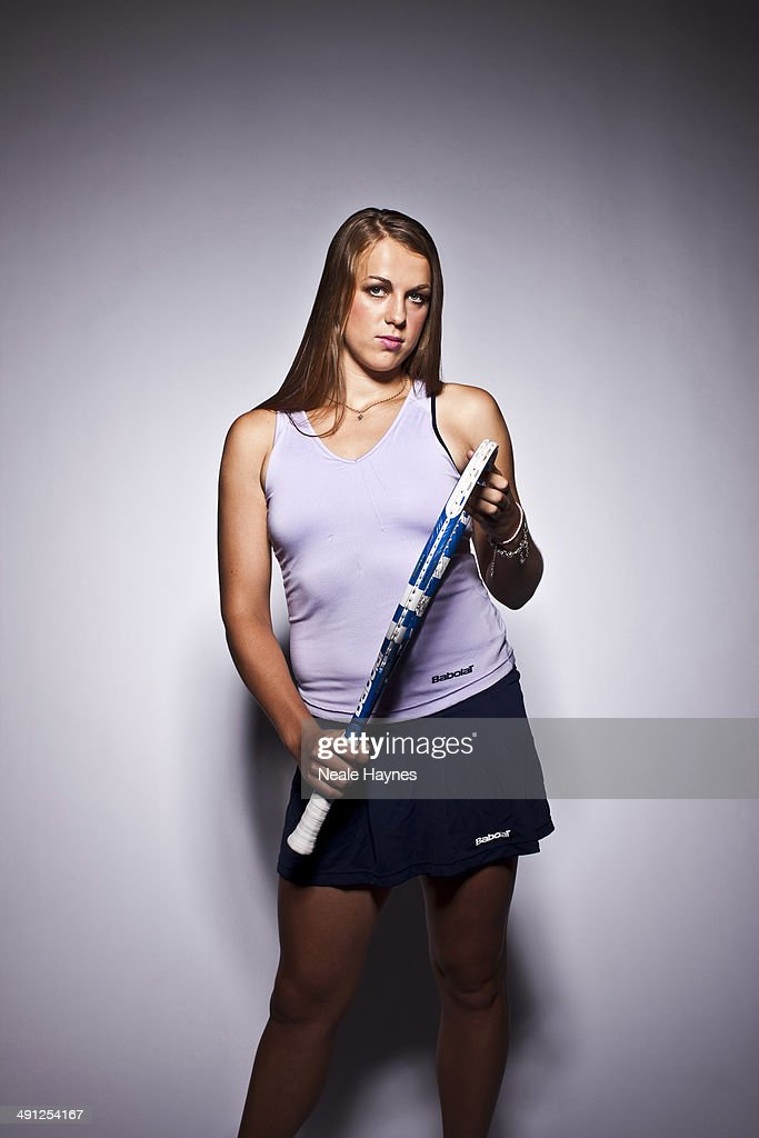 Tennis player Anastasia Pavlyuchenkova is photographed in Brighton, England.