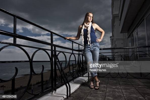 Tennis player Anastasia Pavlyuchenkova is photographed in Brighton England