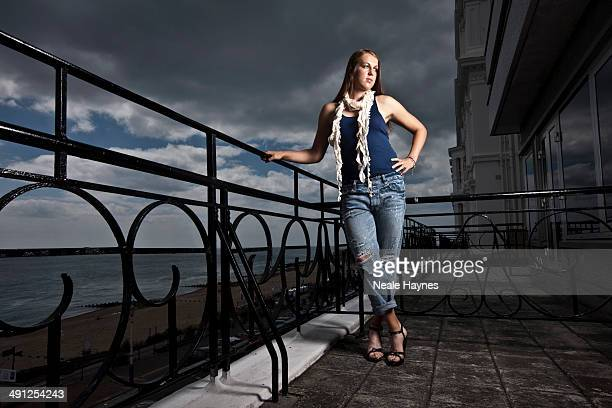 Tennis player Anastasia Pavlyuchenkova is photographed in Brighton England