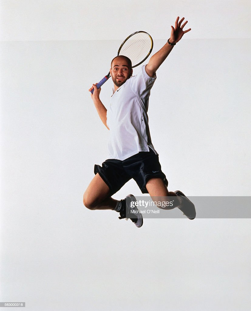 Tennis player Andre Agassi poses for GQ US in April 1996 in Las Vegas, Nevada.