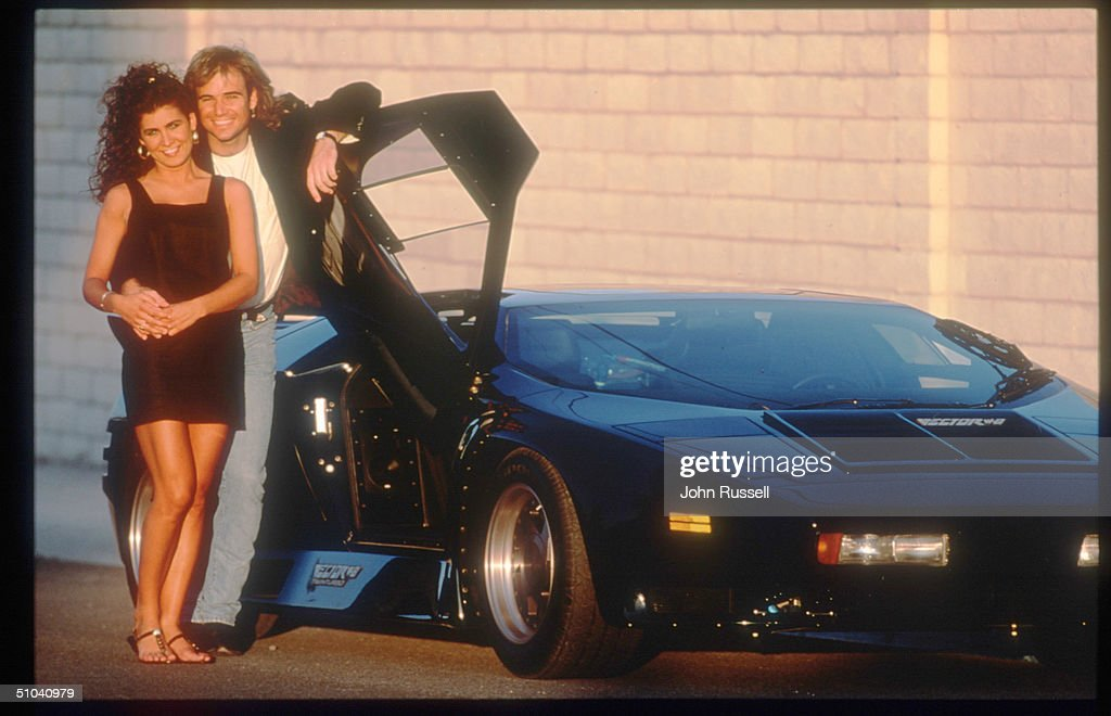 Tennis Player Andre Agassi Poses With His Girlfriend Wendi Stewart November 15, 1991 In USA. Agassi Made His Presence Known In 1987 In The Semifinals In Stratton Mountain And Went On To Win Several Titles Including His First Grand Slam Final At The French Open.
