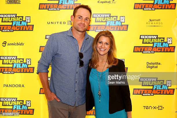 Tennis player Andy Roddick and sports journalist Bonnie Bernstein attend 'Community Counts Making Philanthropy Part of the Game' during the 2016 SXSW...