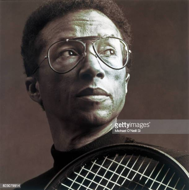 Tennis player Arthur Ashe is photographed for Sports Illustrated on December 1 1992 in New York City PUBLISHED IMAGE CREDIT MUST READ Michael...