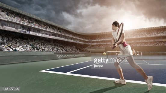 Tennis Player Backhand
