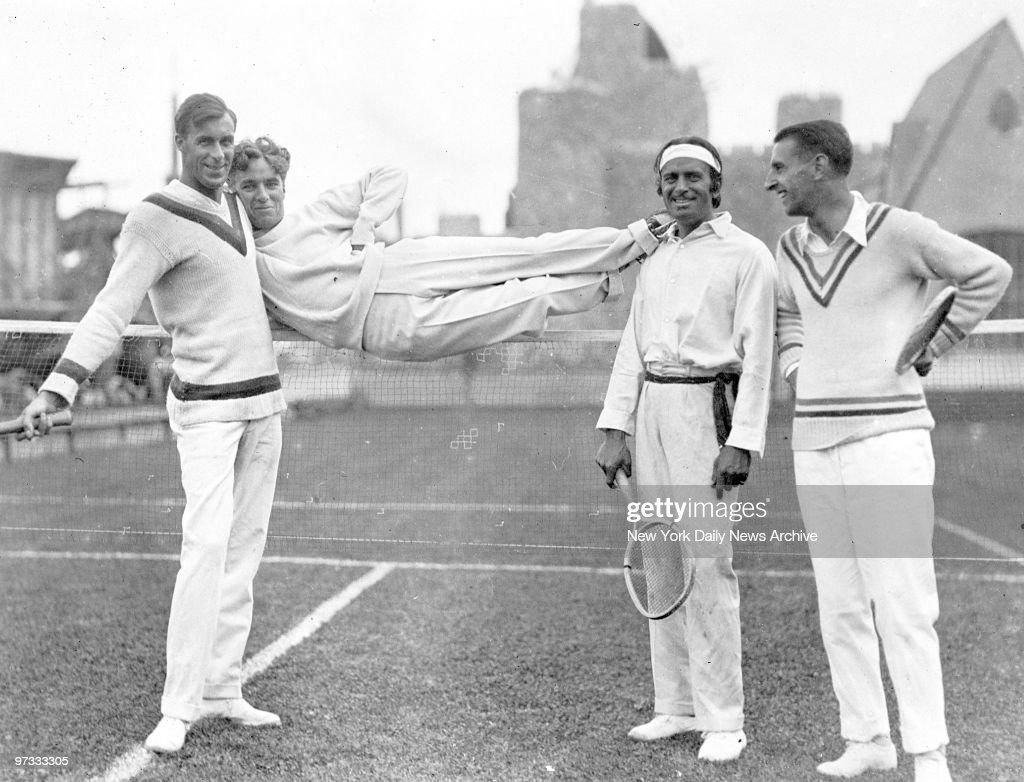 Tennis player Bill Tilden Charlie Chaplin Douglas Fairbank