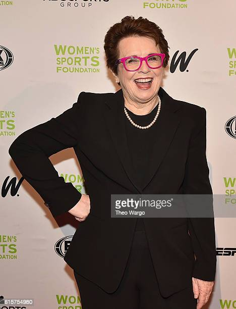 Tennis player Billie Jean King attends the 37th Annual Salute To Women In Sports Gala at Cipriani Wall Street on October 19 2016 in New York City