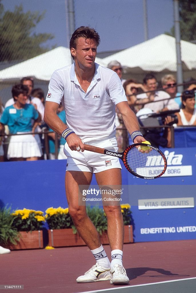 Tennis Player Bjorn Borg at Charity Match in 1986 in Las Vegas, Nevada.