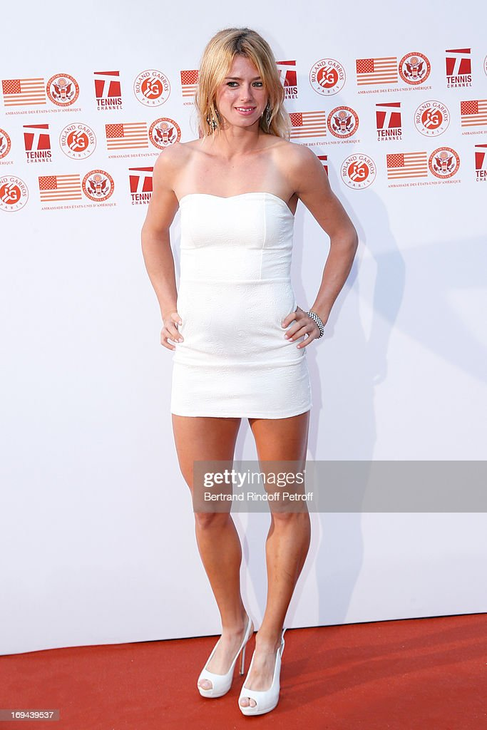 Tennis Player <a gi-track='captionPersonalityLinkClicked' href=/galleries/search?phrase=Camila+Giorgi&family=editorial&specificpeople=7865503 ng-click='$event.stopPropagation()'>Camila Giorgi</a> attends Annual Photocall for Roland Garros Tennis Players at 'Residence De L'Ambassadeur Des Etats-Unis' on May 24, 2013 in Paris, France.