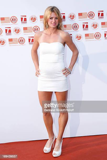 Tennis Player Camila Giorgi attends Annual Photocall for Roland Garros Tennis Players at 'Residence De L'Ambassadeur Des EtatsUnis' on May 24 2013 in...