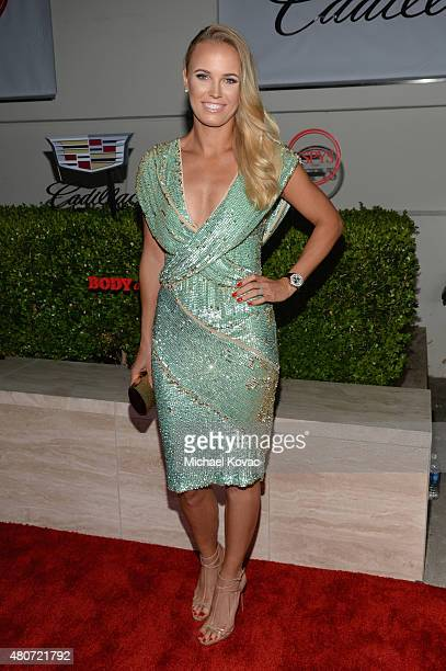 Tennis player Caroline Wozniacki attends BODY at ESPYs at Milk Studios on July 14 2015 in Hollywood California