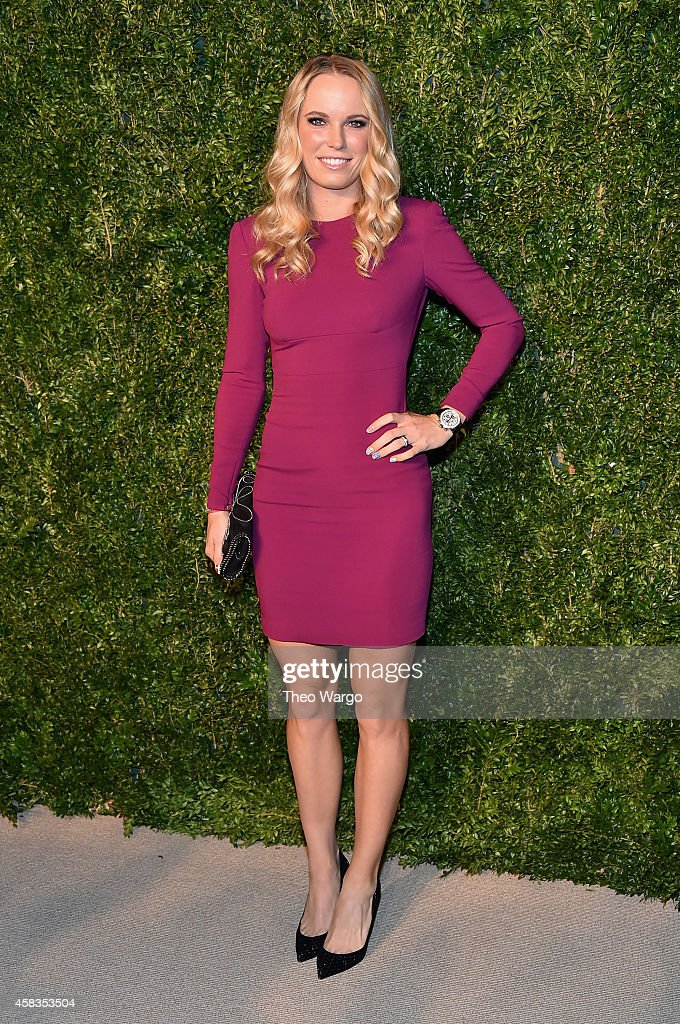 Tennis player Caroline Wozniacki attends the 11th annual CFDA/Vogue Fashion Fund Awards at Spring Studios on November 3, 2014 in New York City.