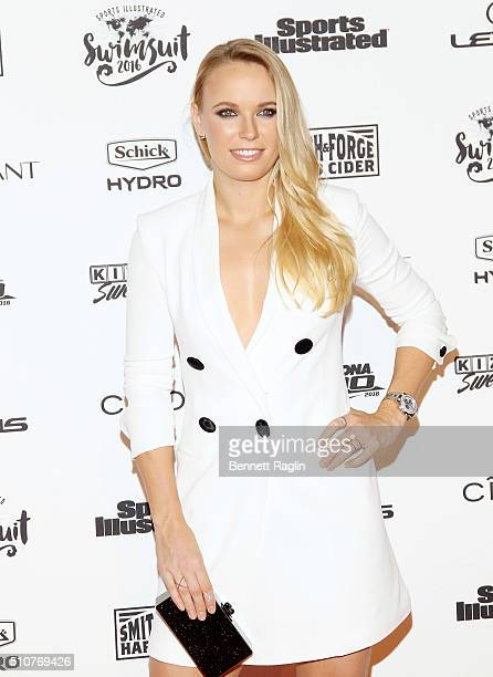 Tennis player Caroline Wozniacki attends the Sports Illustrated Celebrates Swimsuit 2016 at Brookfield Place on February 16 2016 in New York City