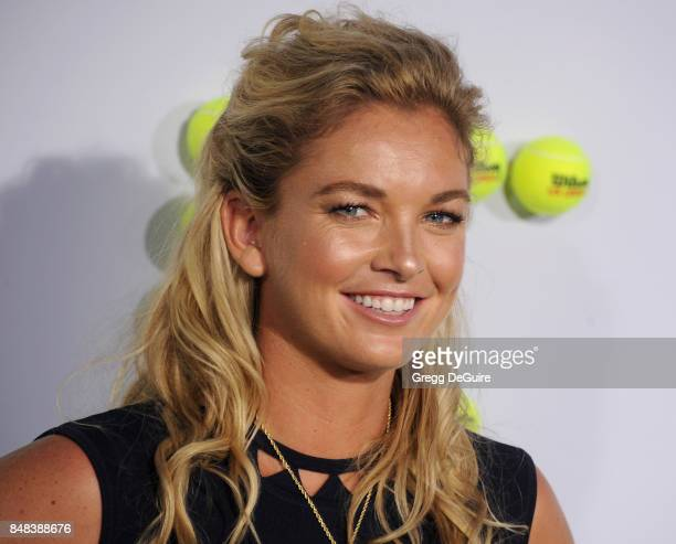 Tennis player CoCo Vandeweghe arrives at the premiere of Fox Searchlight Pictures' 'Battle Of The Sexes' at Regency Village Theatre on September 16...