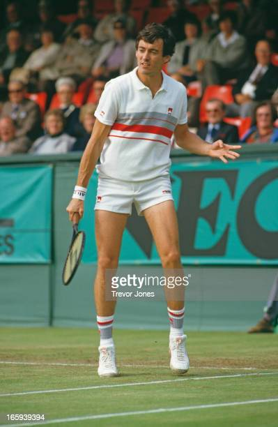 Tennis player Colin Dowdeswell during the Davis Cup at Eastbourne UK September 1984